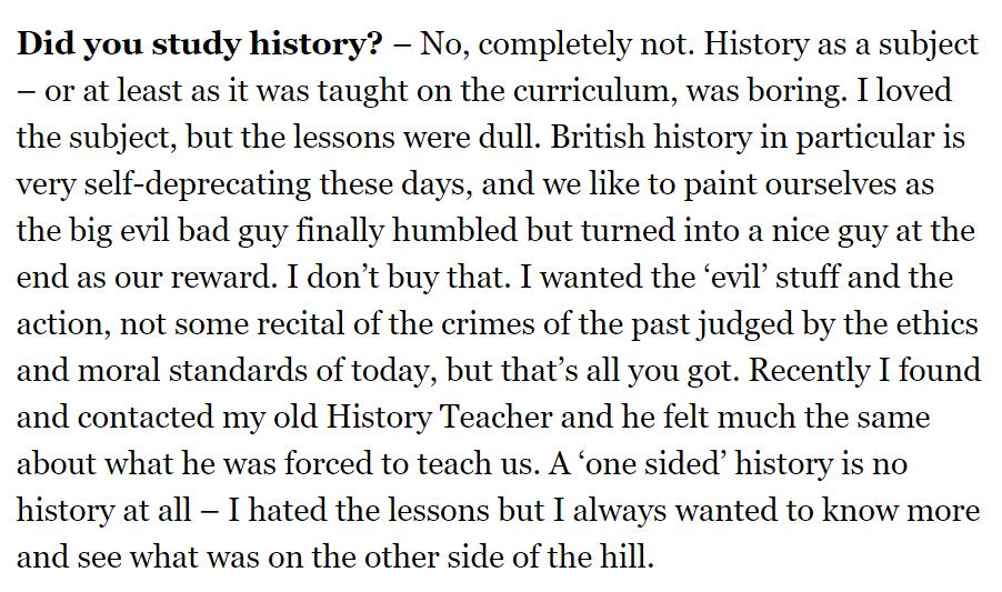 rickydphillips didnt study history